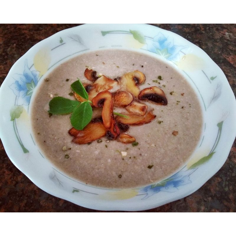 Mushroom Almond Soup
