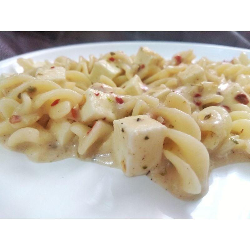 White Sauce Paneer Pasta