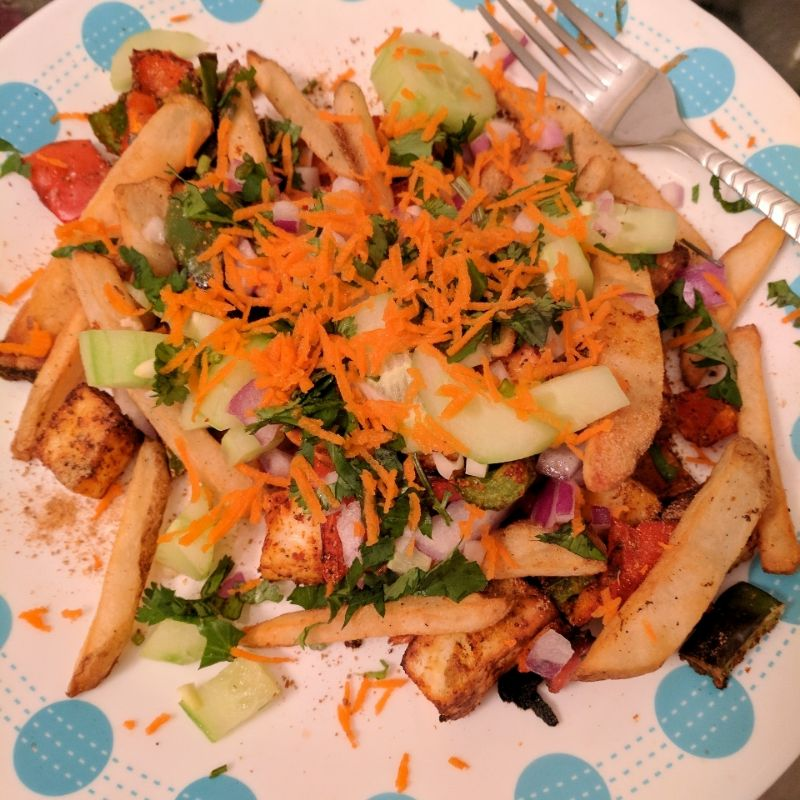 Paneer and Potato chaat