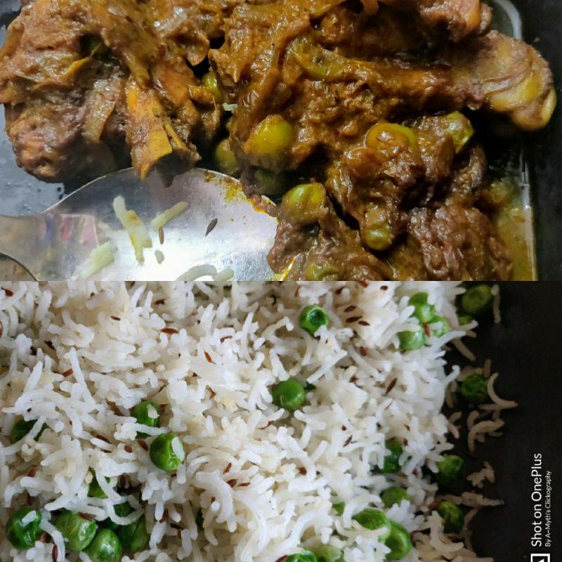 Chicken Kassa(Kosha) & Matar Pulao