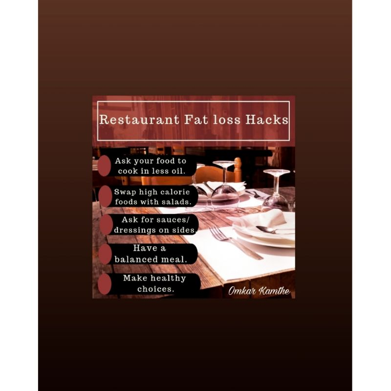 RESTAURANT FAT LOSS HACKS 😋